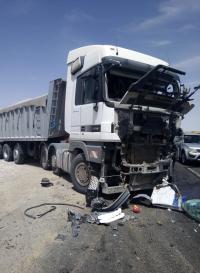 إصابة 16 شخصا اثر حادث تصادم في معان (صور)