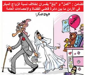 """تضامن : """"أكمل"""" و """"بلغ"""" يفسران إختلاف نسبة الزواج المبكر"""