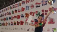 روسيا تمنح الميدالية الذهبية لطفلة أردنية (صور)