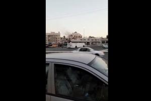 حريق شقة بعمارة سكنية في العبدلي (فيديو)