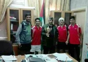 طارق بن زياد الثانوية  تفوز بكأس بطولة كرة القدم