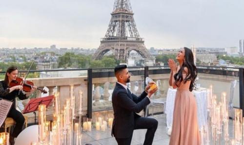 عرض زواج استمرّ 7 أيام ..  بدأ بلوس أنجلوس وانتهى في باريس (فيديو)