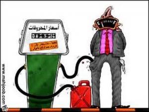 5 قروش ضريبة على البنزين بداية الشهر