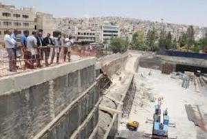 قرب انتهاء أعمال الباص السريع بشارع الجامعة
