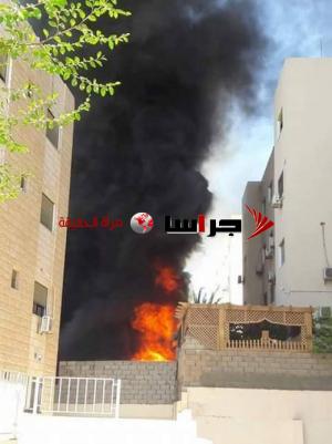 حريق مستودعات أجهزة كهربائية بالعقبة (صور)