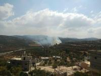 نابلس: مستوطنون يضرمون النار بحقول زراعية