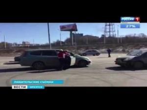 شاهد ماذا فعلت أقوى امرأة في سيبيريا بسائق مشاكس (فيديو)