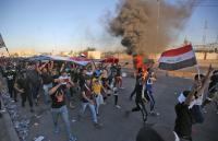 مقتل 3 متظاهرين واصابة 38 بمواجهات مع الأمن في بغداد